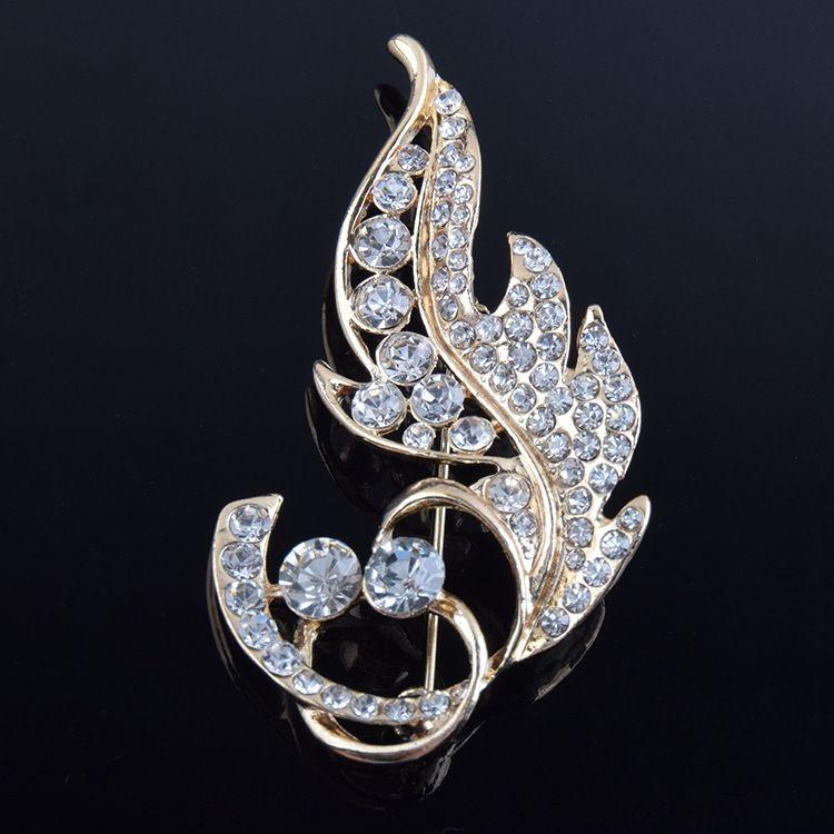 Coreano all-jogo enfeites de diamante doce pequena folha broche de pino Acessório Pin roupas unissex high-end acessórios broche Me49u