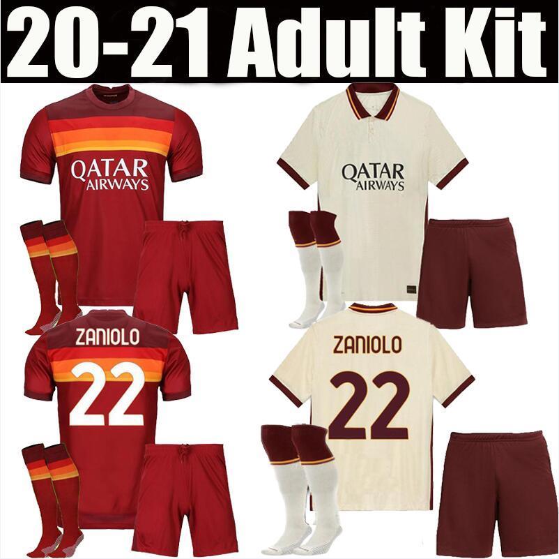 adult kit 20 21 ROMA SOCCER JERSEYS home THIRD AWAY PEROTTI 2020 2021 rome maglie da calcio Schick KOLAROV DZEKO men sets FOOTBALL SHIRTS
