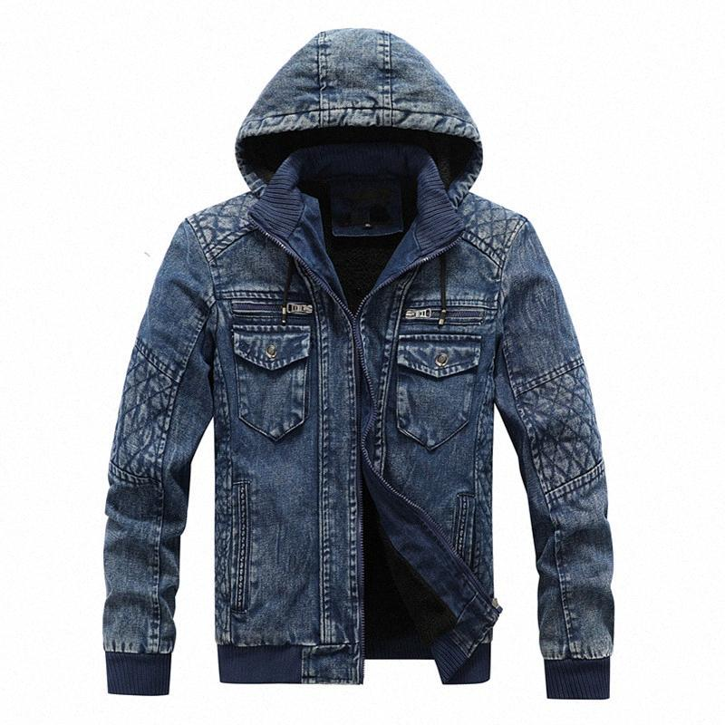 2020 com capuz velo Denim Jakets Homens Outono Inverno Denim Coats Jean Jackets New Fashion Men Outwear Casual Coats XL 4XL Mens Jacket E eSp6 #