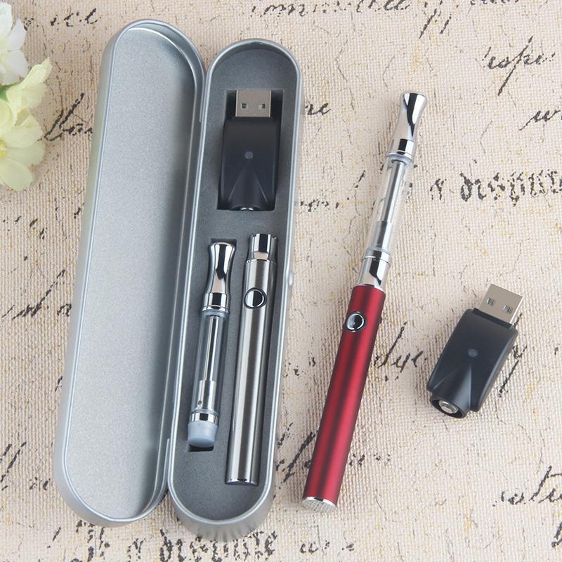 2020 Vape Pen Metal Case Statere Kit Cera Olio vaporizzatore cartucce di vetro ceramica Coil E Cigs 510 tensione variabile preriscaldamento 380 mAh della batteria