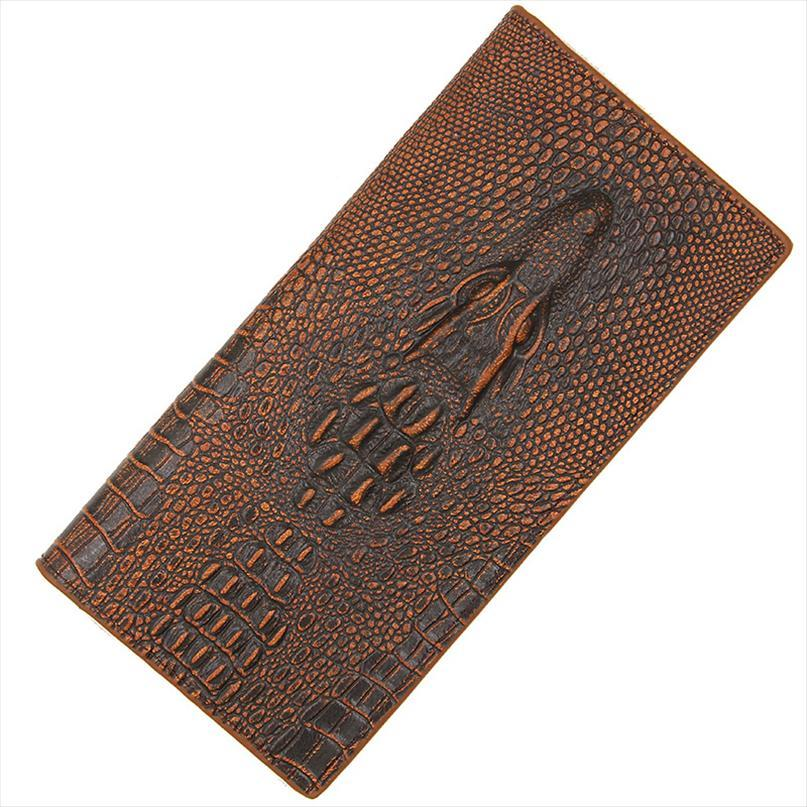 Новые кошельки кожаные длинные кошельки мужчин мужской мужской молния крокодил кошелек PU держатель денег сумка монета монеты кредитной карты NJCBS