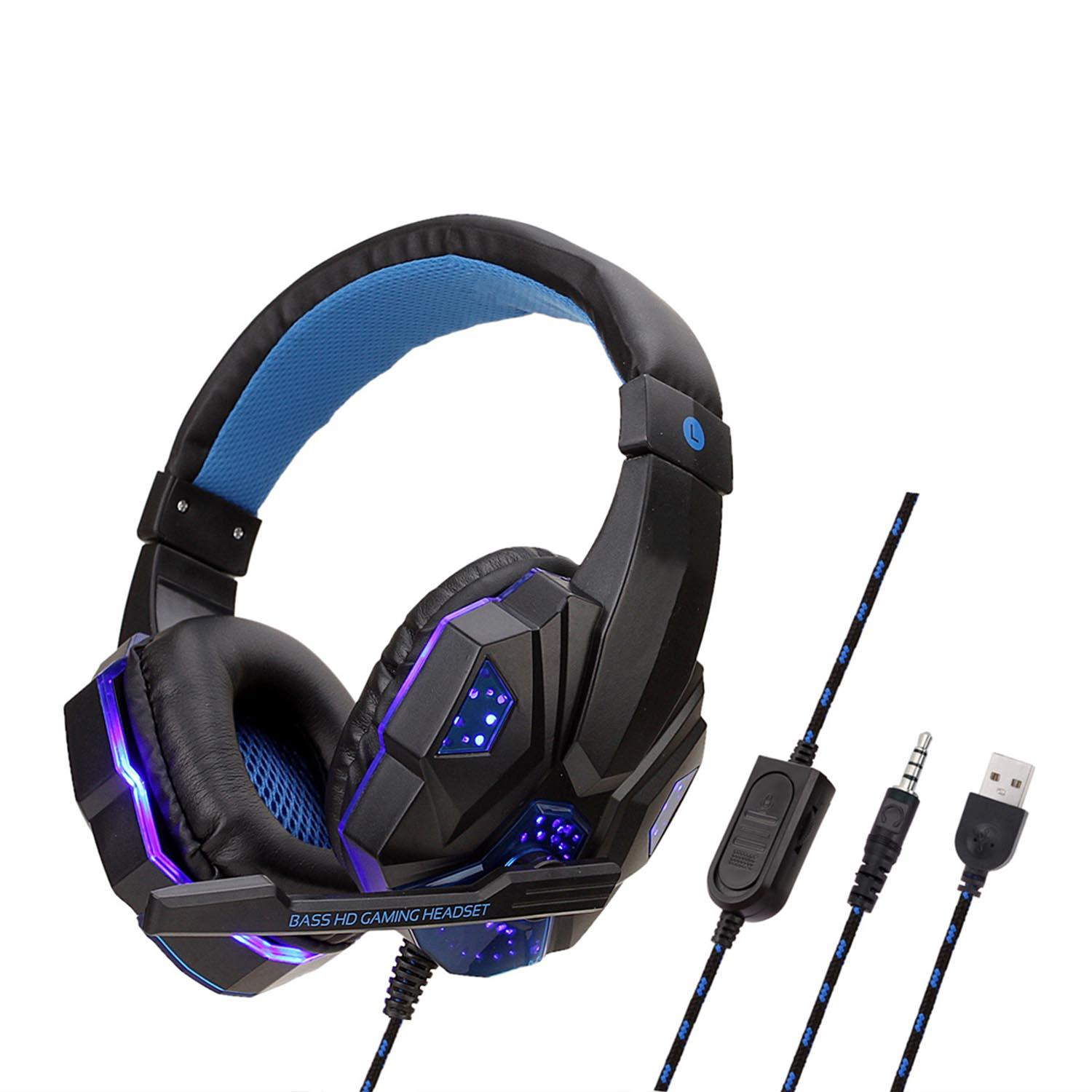 Professional Led Light Gamer Headset For Computer Ps4 Gaming Headset Adjustable Bass Stereo Pc Wired Headset And Microphone Gift Wireless Telephone Headsets Wireless Telephone Headset From Zhenglei3 9 56 Dhgate Com