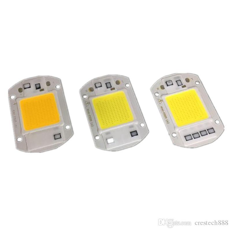 20W / 30W / 50W LED COB CHIP AC220V 110V NO الحاجة الصمام سائق LED مصباح المصباح الأبيض / الأبيض الدافئ / كامل spectrnm
