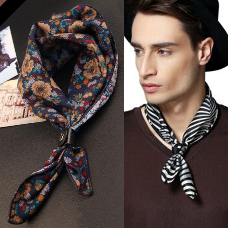 60cm Square Ties Cravats Unisex Scarf for Men Women Tie Accessories Neck Neckerchief Cravat Kerchief Headkerchief Head Man Mens NEW Scarves