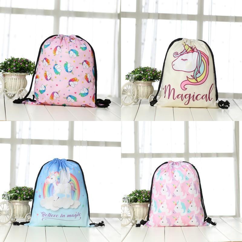 Neues Muster Unicorn Rucksack Aufbewahrungstasche Flamingo Digital Printing Organizer Praktische Einkaufs-Beutel des Multi Patterns 6 8gc Ww