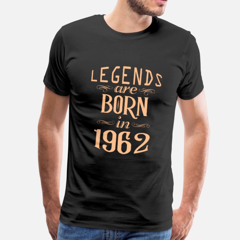 Efsaneler 1962 t gömlek erkekler Özelleştirilmiş pamuk Euro Boyutu'nda Are Born S-3XL Yenilikçi Spor Komik Yaz Stili Benzersiz gömlek