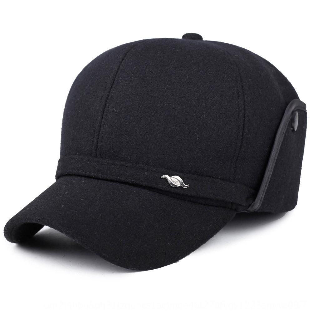 Eski Sivri beyzbol sonbahar ve kulak koruyucu beyzbol şapkası baba şapkası eski şapka ile kış erkekler siperli şapka yünlü kumaş