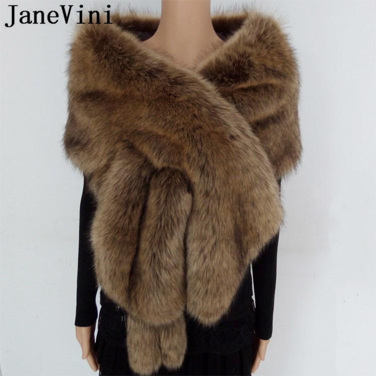Luxury Silver Grey Black Fake Faux Fur Stole Neck Collar Tippet Wrap Shrug Scarf