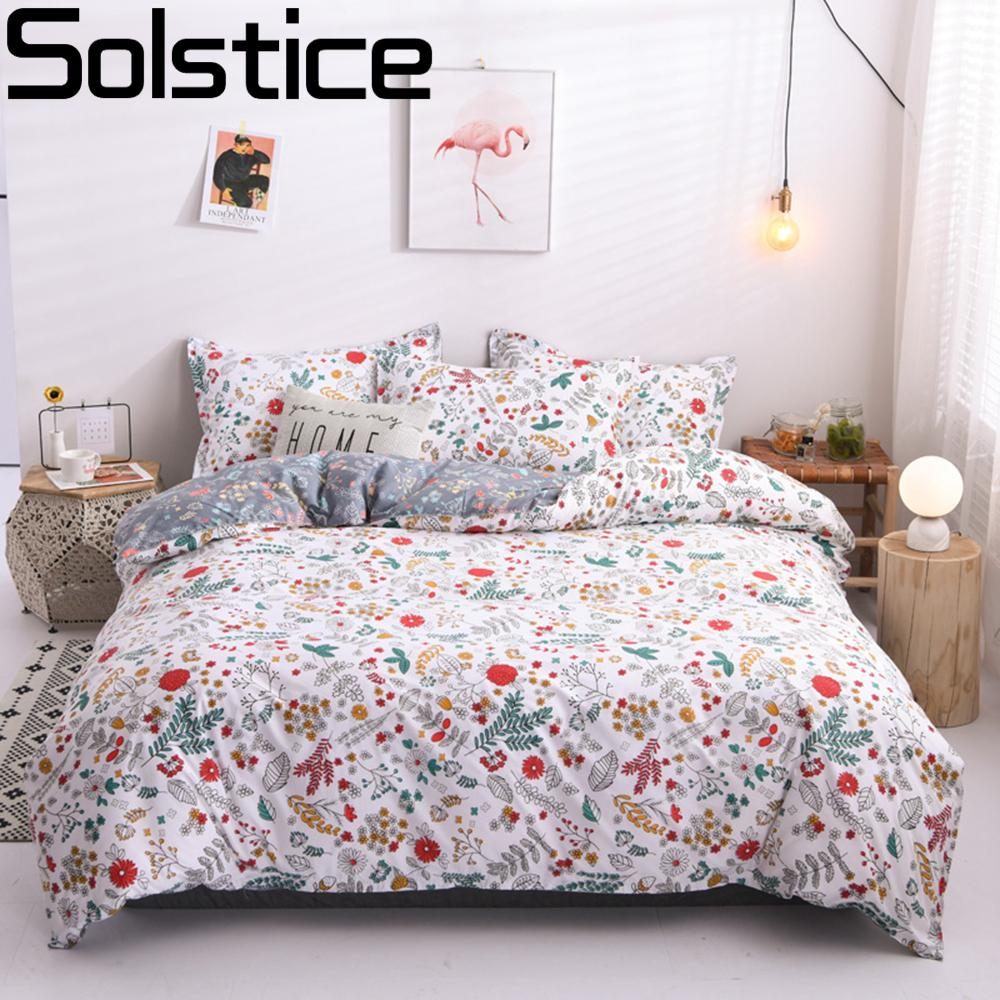 Solstice Home Textile Cartoon Polar bear Bedding Sets Children's Beddingset Bed Linen Duvet Cover Bed Sheet Pillowcase/bed Sets LJ200818