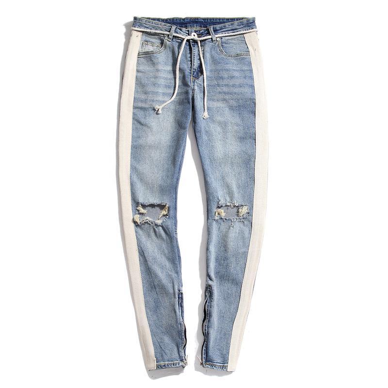 Мужские Узкие джинсы 20SS Мужчины Ripped Hole шорты Stretch Slim Fit Брюки 2020 Summer Скейтборд Hip Hop Прохладный Стилист Pant