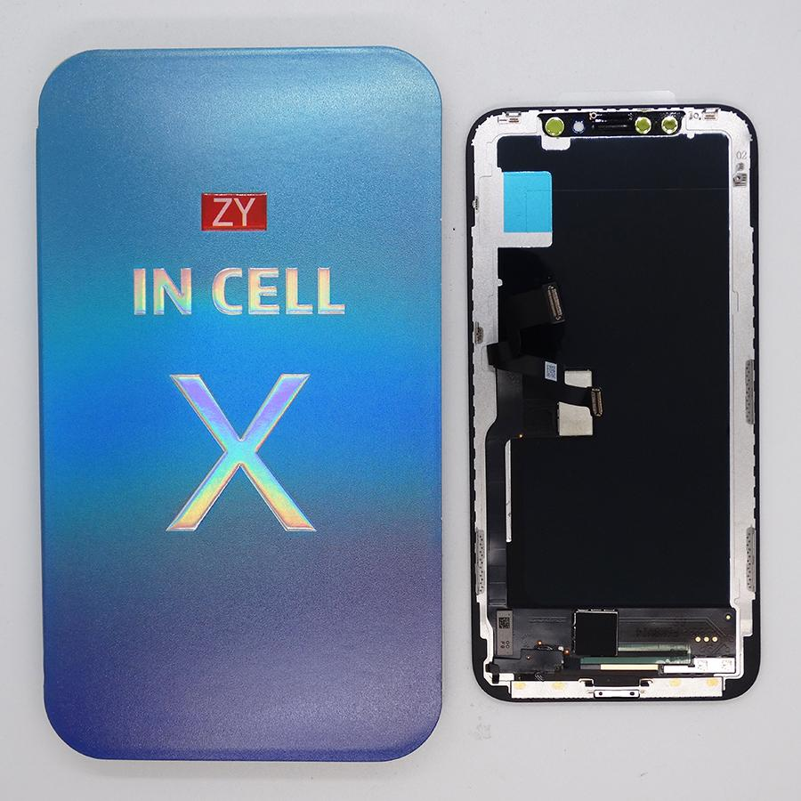 ZY Incell LCD For iPhone X - Brand New aftermaket LCD Display Touch Screen Digitizer Complete Assembly Replacement Free shipping by DHL