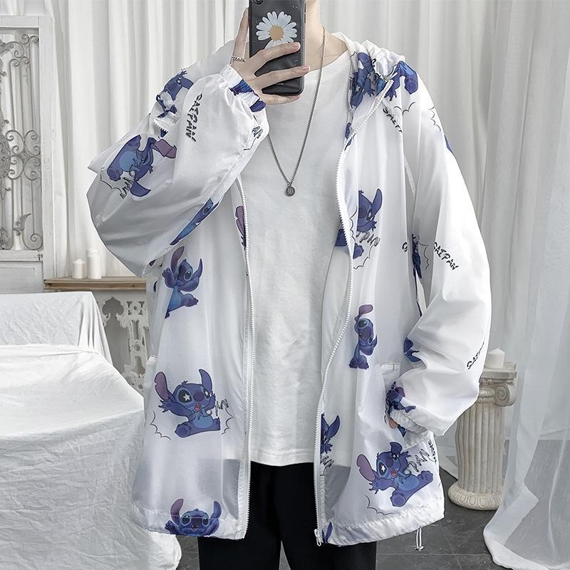 rAElL 2020 été nouvelle protection solaire de grande taille de deux manteau veste pour hommes vêtements vêtements en cuir crème solaire manteau à capuchon de la peau