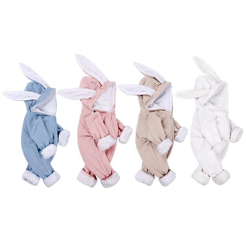 2020 sonbahar ve kış sıcak giysiler artı kadife bebeğin onesies bebek pamuklu giysiler bebek yılbaşı giysileri