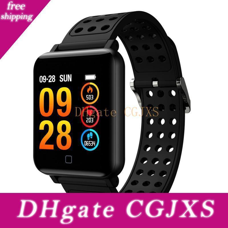 Smart Montre M19 fréquence cardiaque Fitness Bracelet Sommeil Moniteur Fitness Tracker Sang Montre Ip67 écran couleur étanche Band