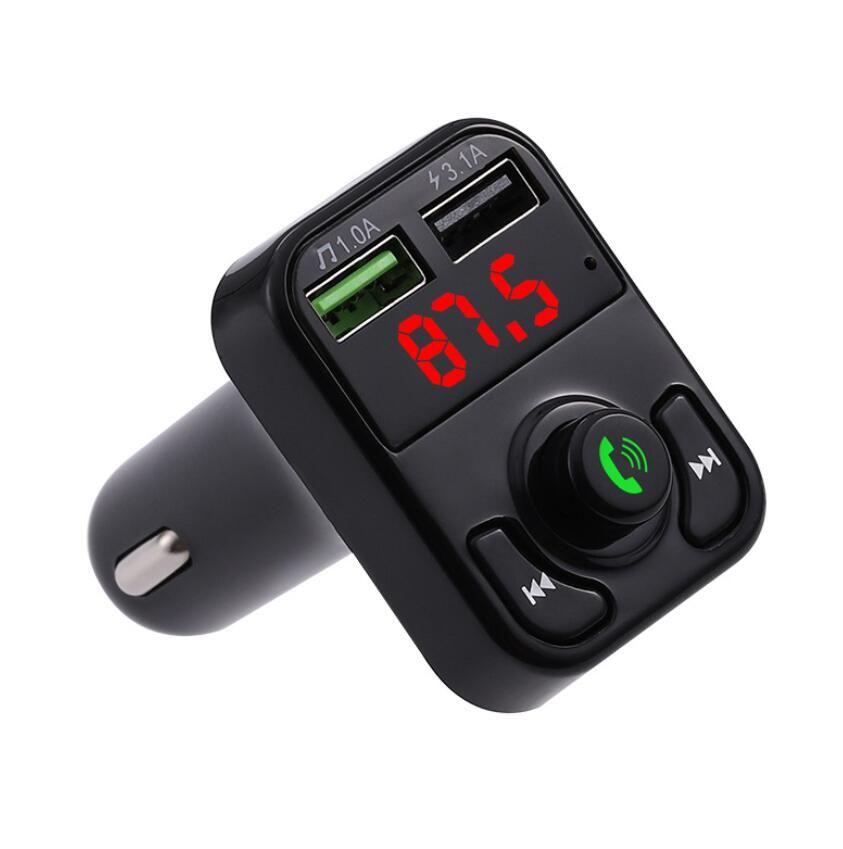 저렴한 자동차 B2의 X3 다기능 블루투스 송신기 2.1A 듀얼 USB 자동차 충전기 FM MP3 플레이어 자동차 키트 지원 TF 카드 핸즈프리