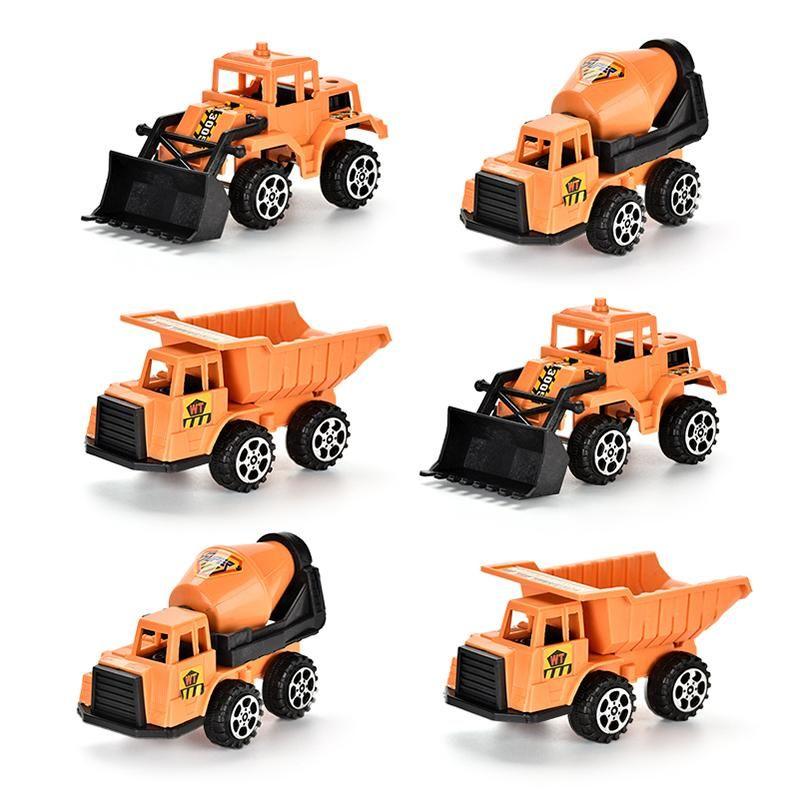 Camion d'anniversaire Boy Diecast Cadeau de voiture Modèle Styles de vidanges Véhicules Pelle Jouet Jouet Jouet Éducatif Enfants Mini 6 Engineering HUHGV