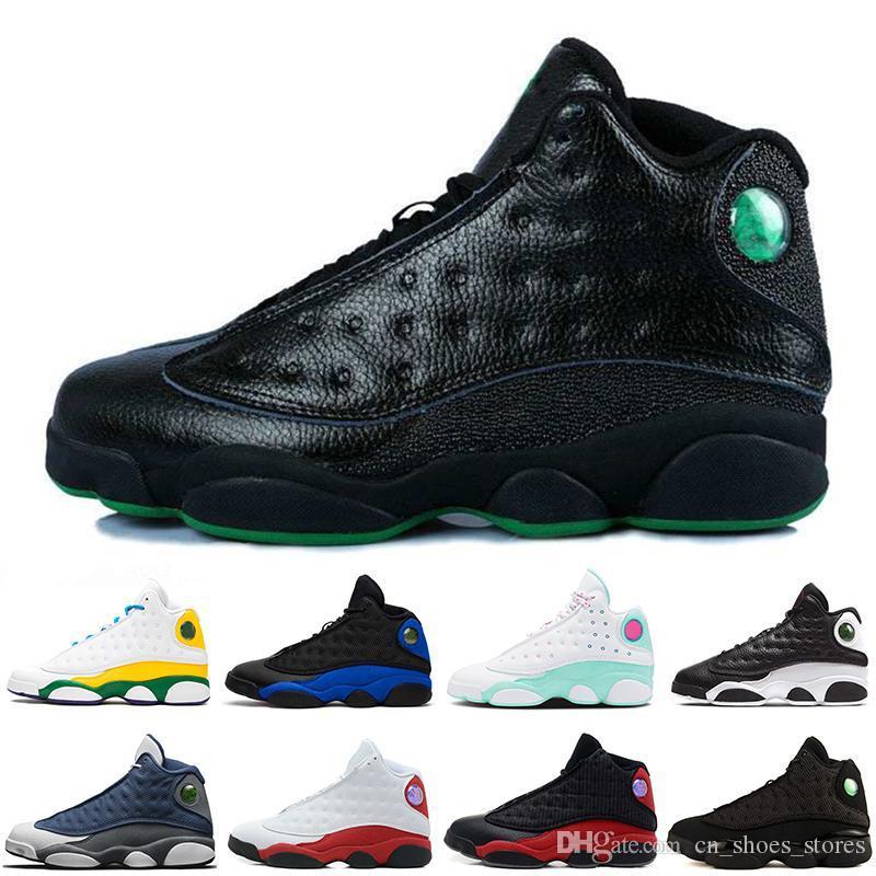 2020 Nuevo 13 13s Flints Cri CNY Hombres Zapatos de baloncesto Hyper Royal Alititud Green Mint Green Black Cat Playoffs Mens Deportes Designer Sneakers