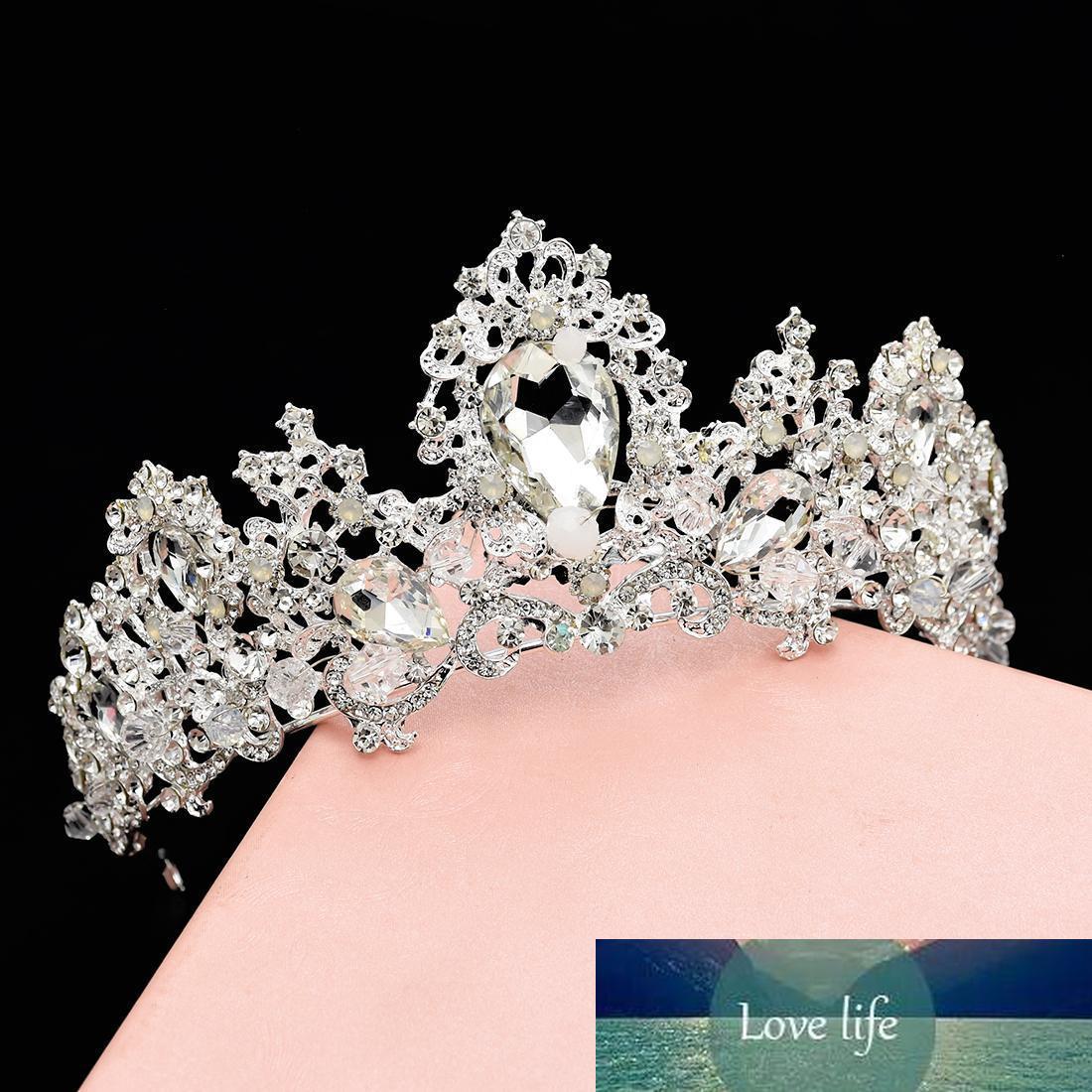 Almacén de los EEUU nueva reina personalidad de la moda estilo de temperamento de lujo barroco de cumpleaños la corona del partido foto tocado de regalo de la joyería