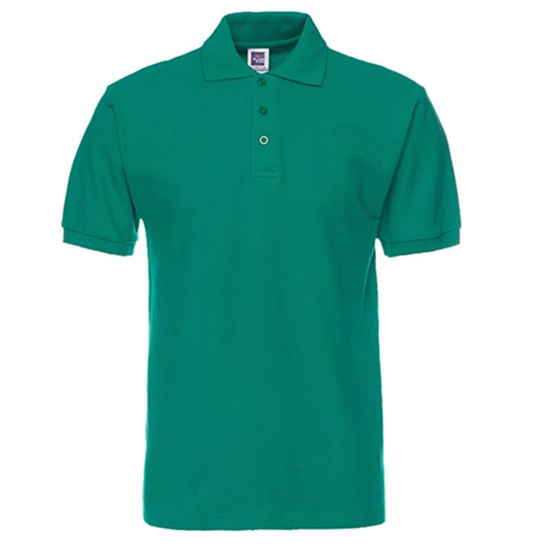 Ropa de venta de la manera de los hombres de negocios de Nueva llegada Polo Polo ocasional delgado transpirable sólido camisa de algodón para hombres Polo del tamaño grande