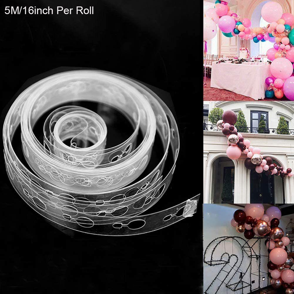 Balon Arch Kiti Balon Garland Dekorasyon Şerit Kiti 5m / Rulo Balon Teyp doğum günü partisi Düğün Arka Plan Dekorasyon Şeritler