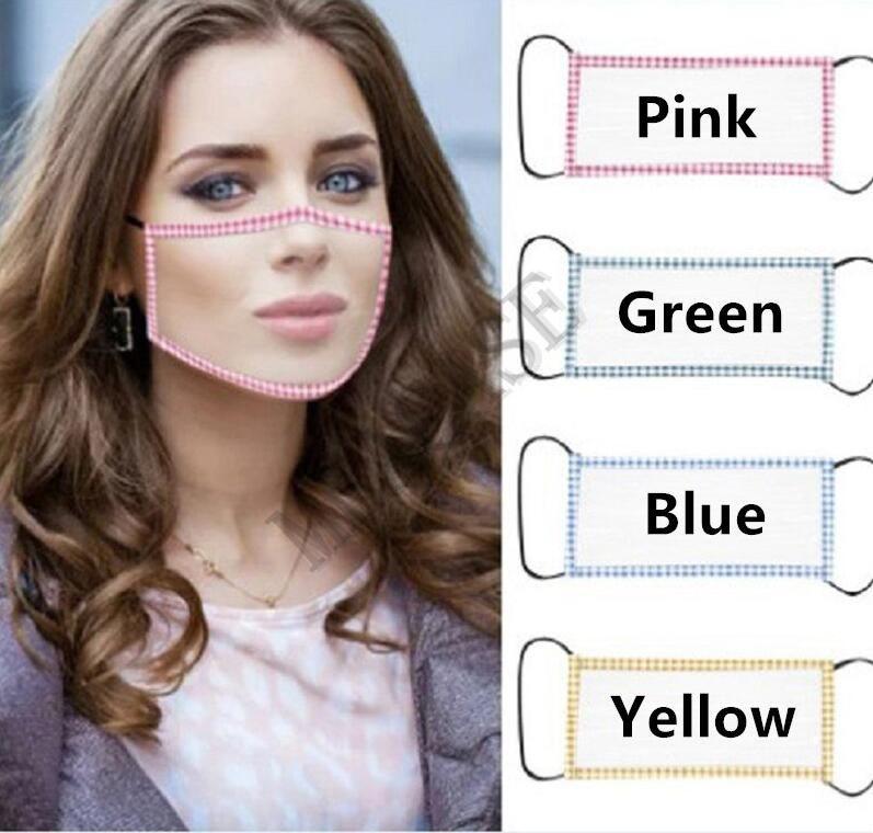 Viso Moda Donna mascherina mascherine trasparenti con Visibile Lip sordomuto Lip Reading Hearing Impaired maschere Sordi di Scuola copertina 4 colori D8512