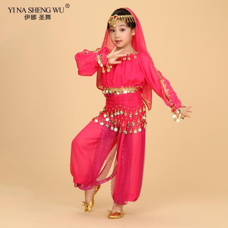 البطن افلام الرقص حلي للأطفال مصر مصري شرقية رقص تناسب الفتيات اللباس 120D الشيفون الأعلى بانت