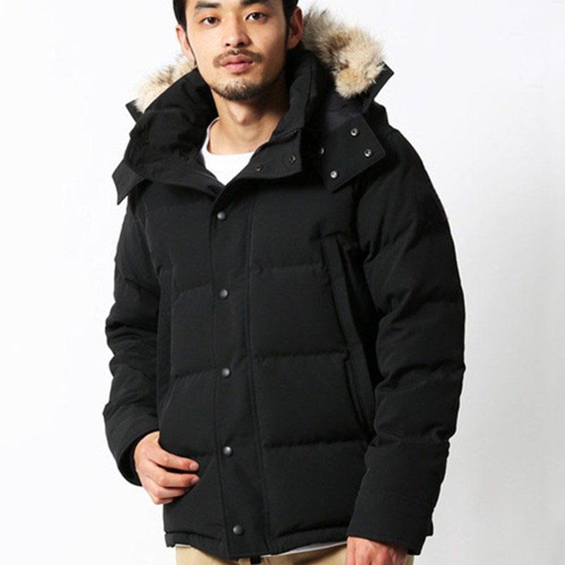 Мужские зимние Fourrure Down Parka Homme Jassen Chaqueas Верхняя одежда Wolf Fur Parted Manteau Wyndham Куртка Hiver Doudoune
