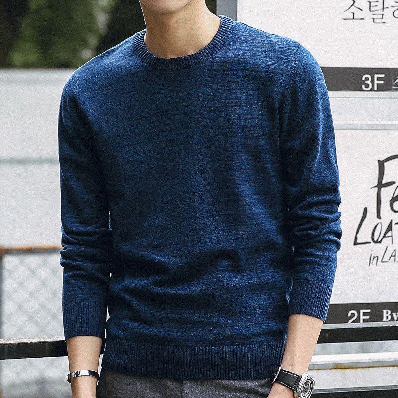 2020 Свитера Мужчины Новая мода Mens Casual O-образным вырезом Тонкий хлопок вязать качества Свитера и пуловеры Мужчины Марка Размер одежды M-3XL