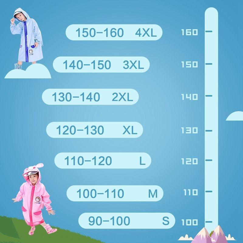 Bambini set cappotto ragazzi e ragazze di scuola materna studenti doppio bordo con zainetto un pezzo bambino poncho Schoolbag stivali da pioggia Mantello pioggia bo