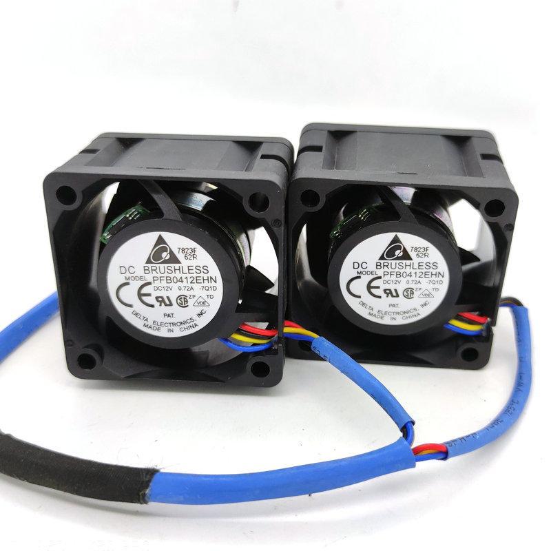Nuovo originale per ventola di raffreddamento Delta PFB0412EHN DC12V 0.72A 40x40x28MM Server 1Set