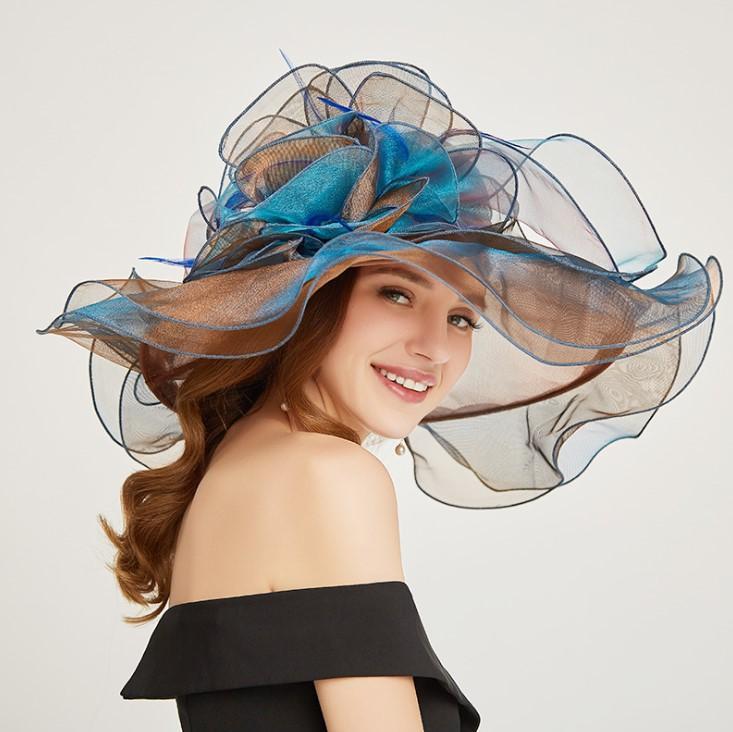 Britannico Cappello Organga Berretto Estivo moda di strada Cappelli Beanie per la donna protezioni registrabili Womens cappello della spiaggia 6 colori Top Quality