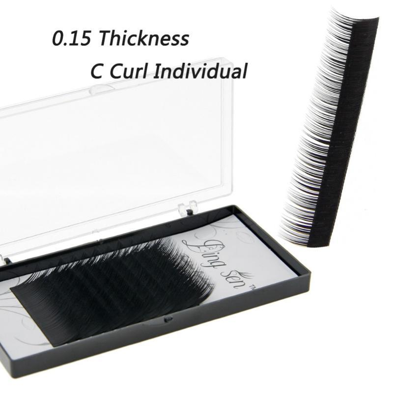 12Lines/Tray Individual Silk Eyelash Further High Quality Eyelash Extension Mink Individual Extensions
