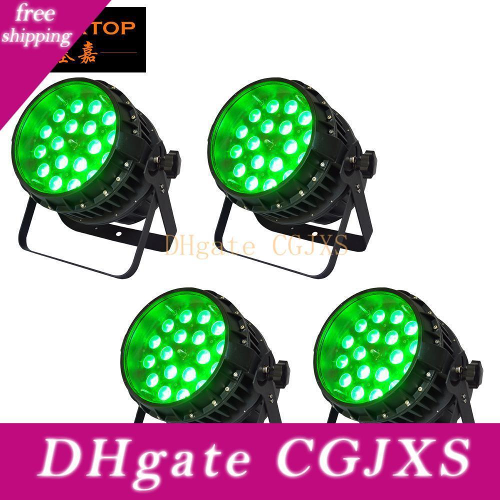 Tiptop 4 Unidades 18x12w RGBW 4in1 impermeável Zoom Led Light Par Profesiosnal Stage Led Lighting Outdoor Wall Washer Luz Wash feixe 2em1