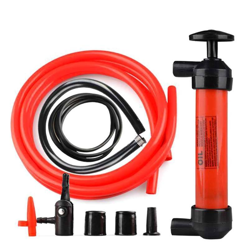 Car Siphon Hose Liquid Gas Oil Water Transfer Hand Pump Sucker Siphon Air Fuel Gasoline Transfer Tire