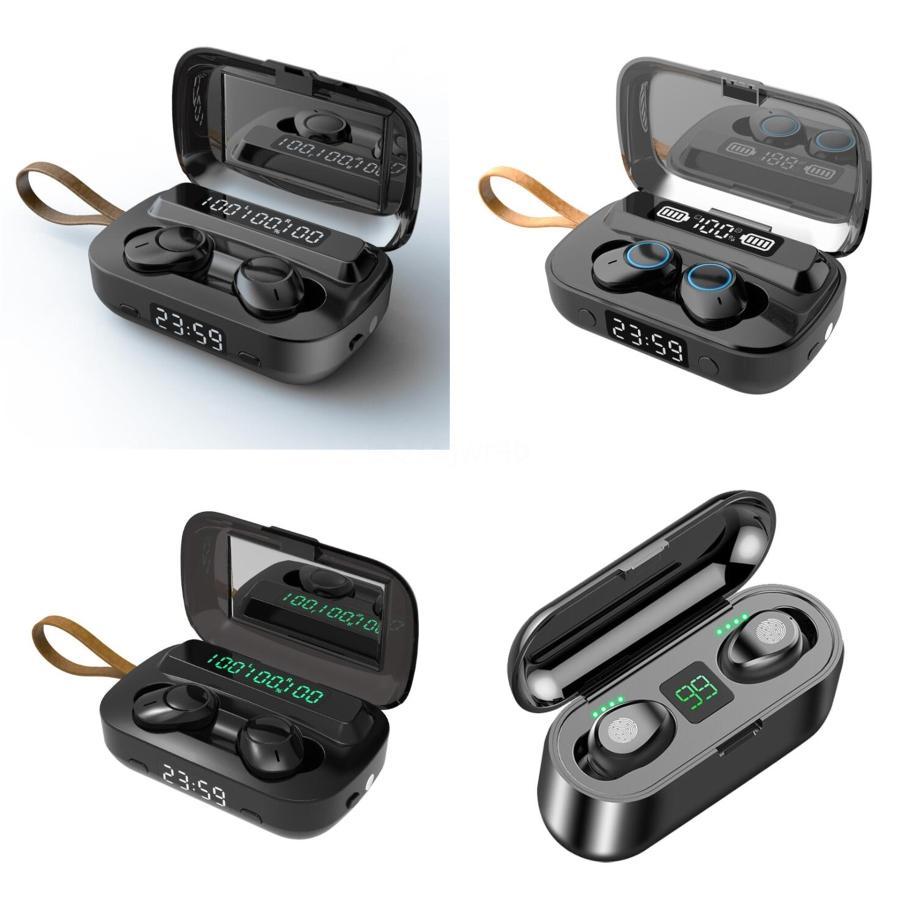 Vitog G5s tws 3500Mah LED Bluetooth Kablosuz Kulaklık Kulaklık Kulaklık TWS Dokunmatik Kontrol Sport Kulaklık Gürültü Su geçirmez Headpho # 436 İptal