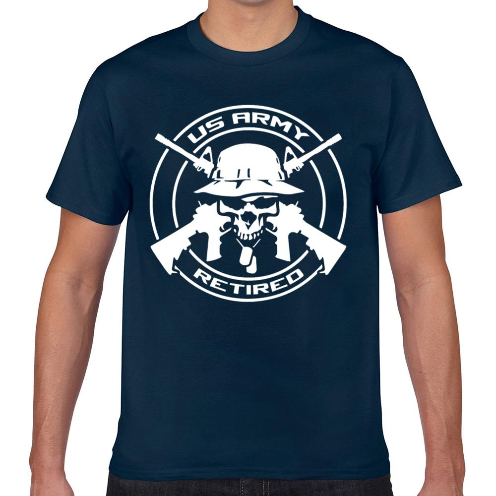 Tops T shirt da uomo veterano dell'esercito americano in pensione O-Collo Vintage Geek Stampa maschio maglietta Xxx