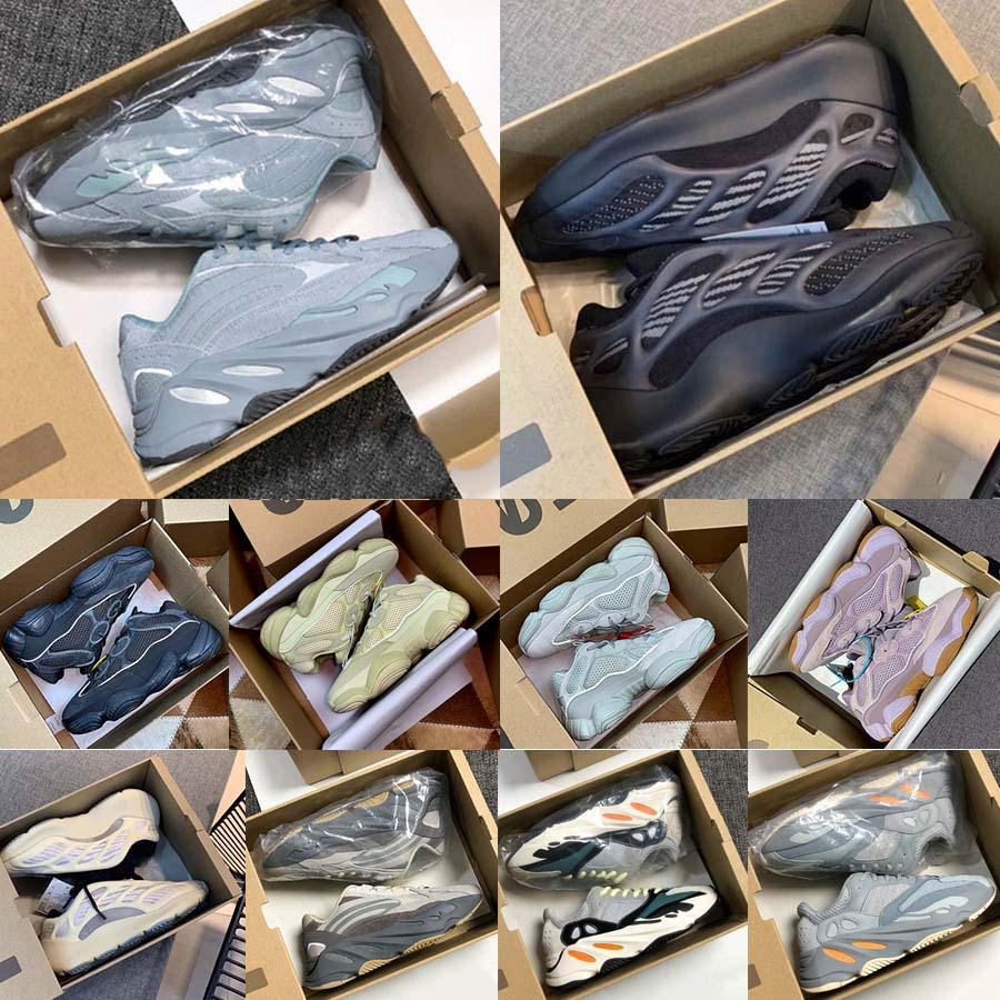 El carbono azul Azael Alvah 700 inercia estática corredor de la onda 500 Blush de los zapatos corrientes reflectante Utilidad Negro Kanye West Deportes zapatillas de deporte Tamaño 5-12