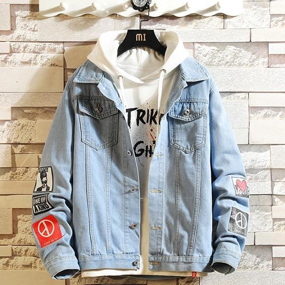 Homens casacos de moda com Applique 2020 Hot Sale Denim Jackets Youth Student Estilo Moda Hot Sale Casacos Casacos Mens Clothing