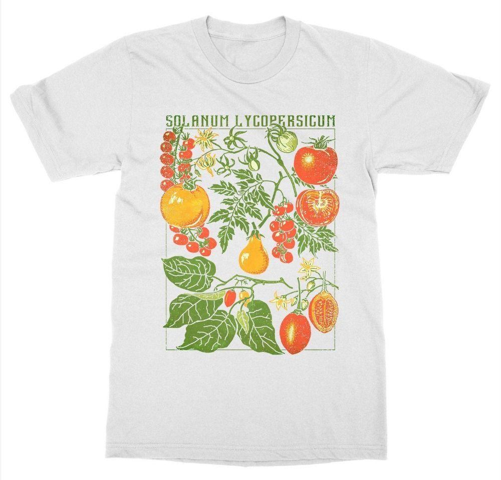 Tomate T-shirt Plante Jardin botanique Imprimer Art Botanique Bloom Fruit Flower grandir Hommes Mode Marque Vêtements d'été Coton T-shirt