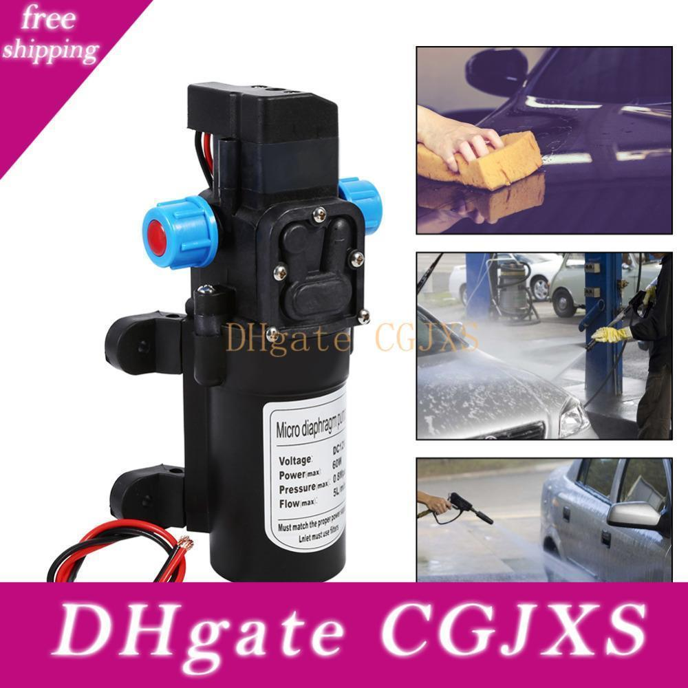 60w Dc 12v High Pressure Auto Diaphragm Water Pump 115 Psi Self -Priming Water Pump For Water Purifier Pressurizer Caravan Boat