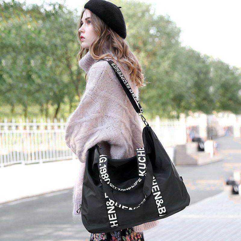 DIINOVIVO Large Capacity Bag Travel Bag Female Casual Women Handbags Totes Bag Ladies Nylon Shoulder Women Bags WHDV1243