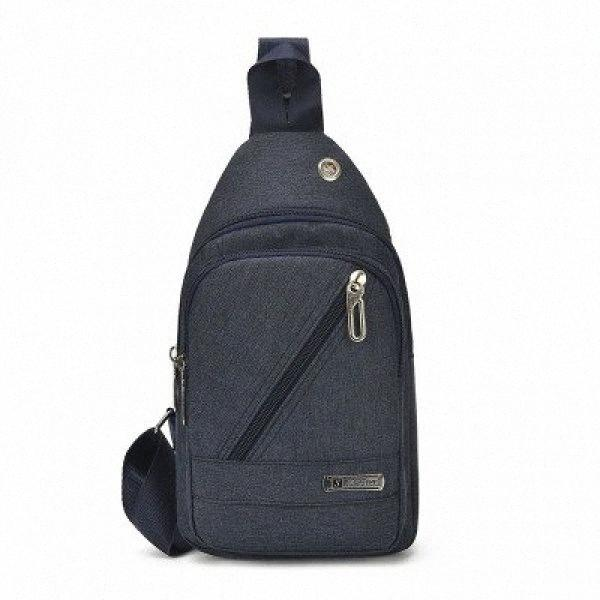 Mode Hommes Coffre Voyage solide Pack! Polyvalent Homme Petite équitation poitrine BagCasual Sac Polyvalent Oxford MobileChange Porte-Jg9R #