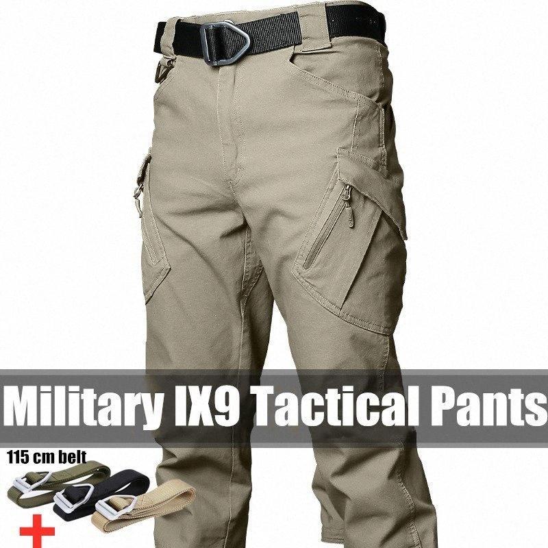 Pantalon tactique Armée Fan Hommes de poche multi-vêtements d'entraînement au combat droite Salopette coton randonnée en plein air Pantalon Homme dFyN #