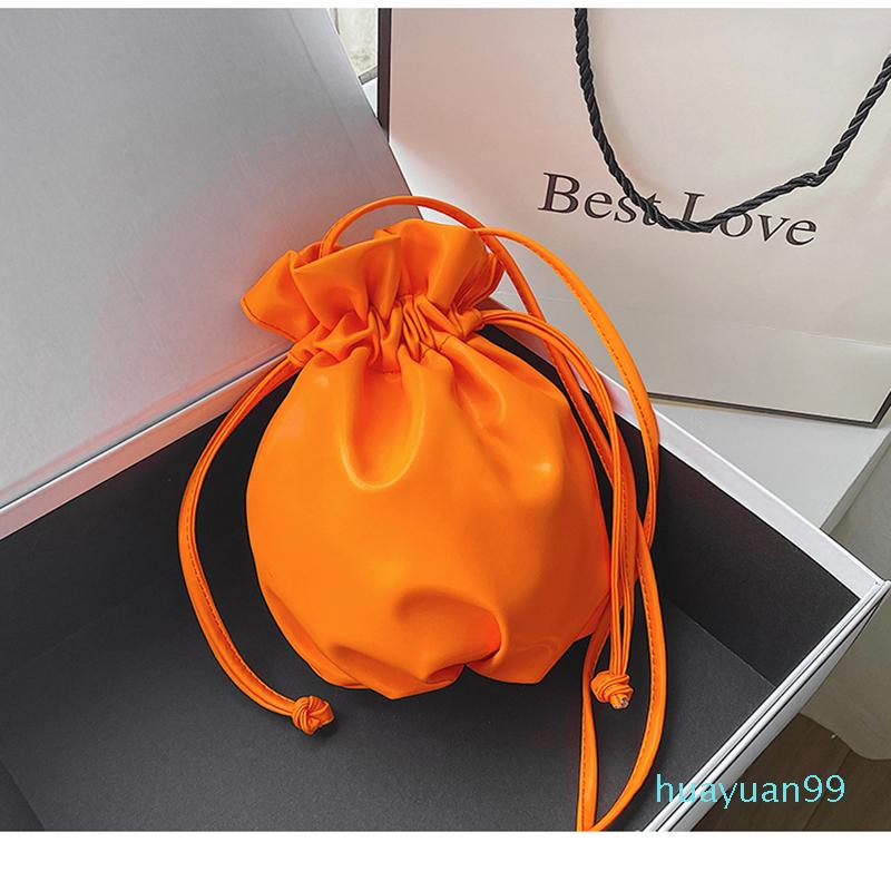 Neon Bag Girls Color New- Shoulder Messenger Drawstring Crossbody Orange Bags Handbags Organizer Dfpgf