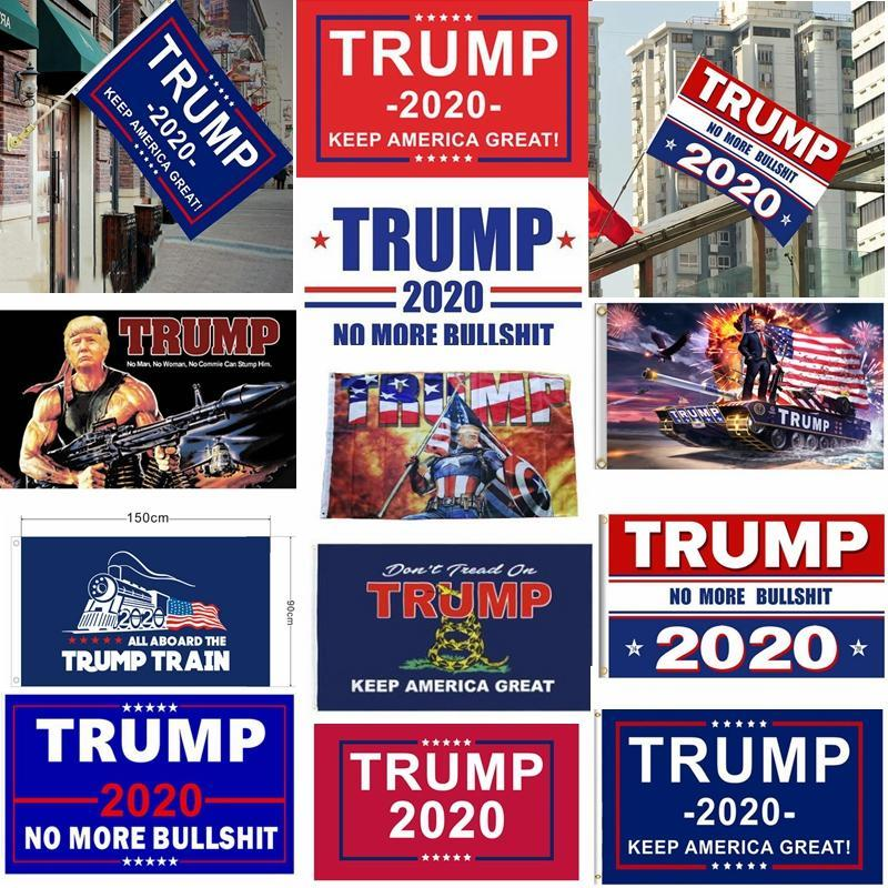 Trump Флаг Висячие 90 * 150см Trump Keep America Great Banners 3x5ft Digital Print Дональдом Трампом 2020 Flag 20 цветов декора Баннер