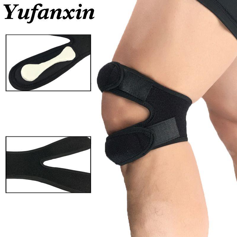 1 PCS Adjustable Knee Strap Patellar Tendon Band Knee Support Brace Protector Pads Sport Safrty Fit Fitness Running Kneepads