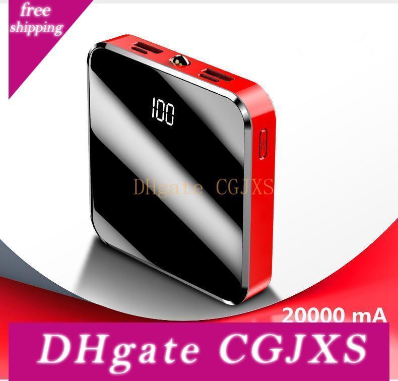 20000ma Banco de alimentación Compatible con tipo C y Micro interfaces y salidas Dual USB de carga rápida de carga rápida de la batería externa