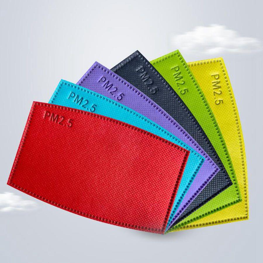 Colorful PM2.5 Maschera filtro non tessuto carbone attivo Filtri Maschere Anti Haze Bocca Filtro sostituibile monouso filtri 5 strati YL118