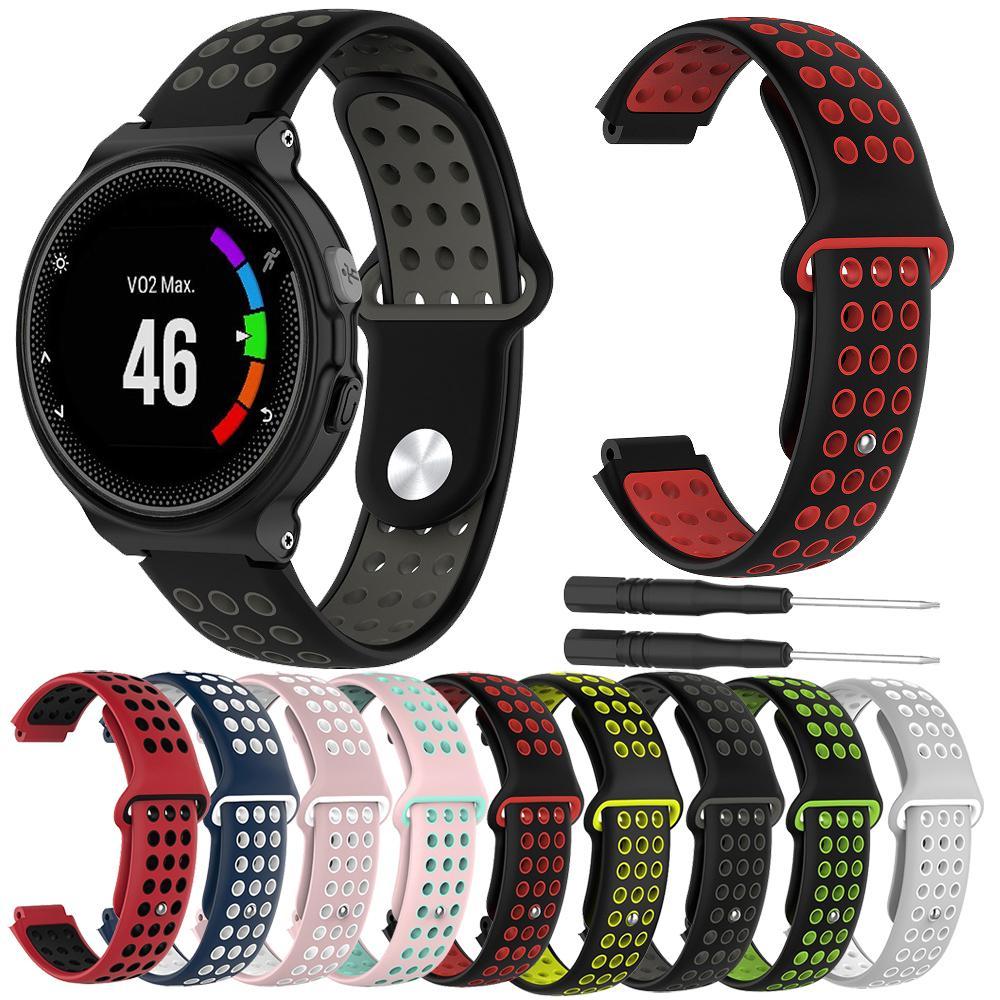 Женщины Мужчины резиновые часы группы ремешок для Garmin Forerunner 230 235 220 630 620 735 Подход S20 S5 S6 Браслет силиконовый ремешок Loop
