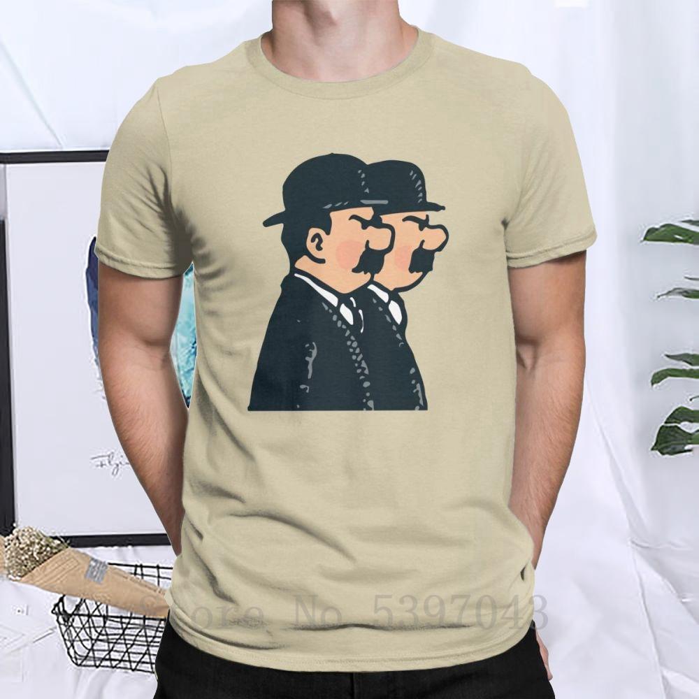 Tim Thomson Twins T-Shirt Männer 100% Baumwolle Humorous T-Shirt Die Abenteuer von Tim und Struppi T Kleidung kurze Ärmel Geschenk-Idee